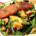 Grilled Salmon and Peach Salad